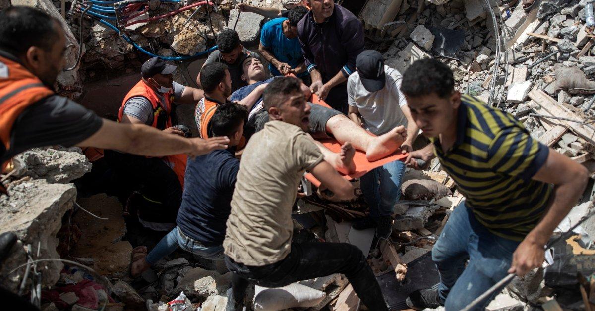 Pemogokan Israel Membunuh 42 dan Meruntuhkan Bangunan di Kota Gaza - Majalah Time.com
